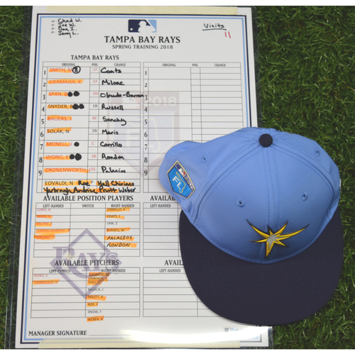 Photo of 2018 Spring Training Game Used Cap: Mallex Smith