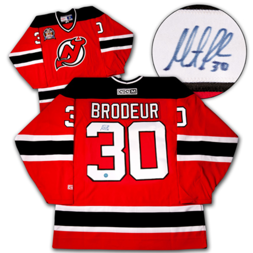 Martin Brodeur New Jersey Devils Signed 1995 Stanley Cup Retro Ccm