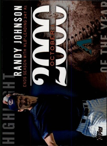 Photo of 2015 Topps Highlight of the Year #H84 Randy Johnson UPD