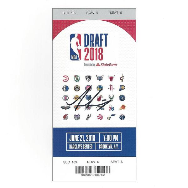 Image of Dzanan Musa - Brooklyn Nets  - 2018 NBA Draft - Autographed Draft Ticket