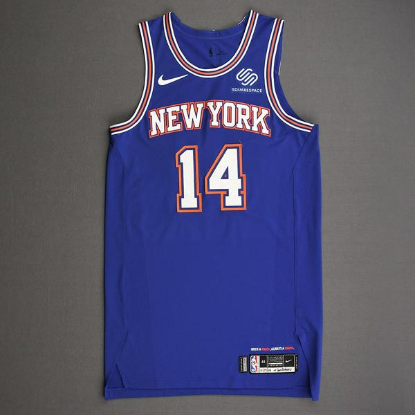 Image of Allonzo Trier - New York Knicks - Kia NBA Tip-Off 2019 - Game-Worn Statement Edition Jersey