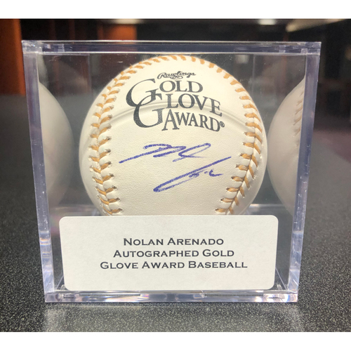 Photo of Colorado Rockies Autographed Gold Glove Baseball: Nolan Arenado