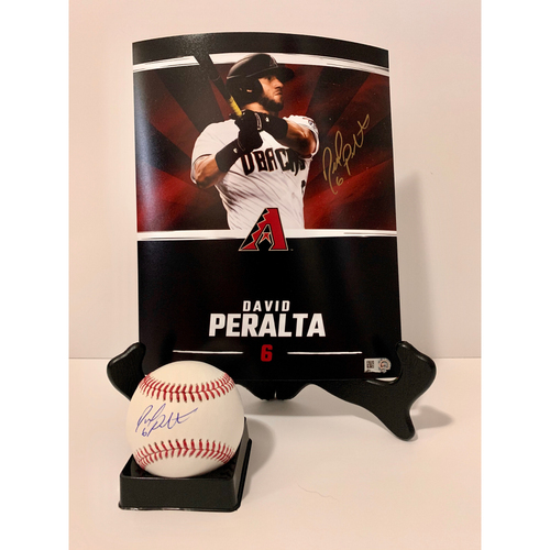 Photo of David Peralta Autographed 8x10 and Ball