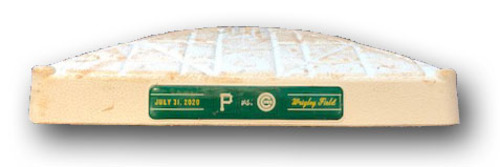 Photo of Game-Used 1st Base -- Used in Innings 1 through 9 -- Cubs Win 6-3 -- Darvish 6 IP, 0 ER, 7 SO; Kipnis HR(1) -- Pirates vs. Cubs -- 7/31/2020