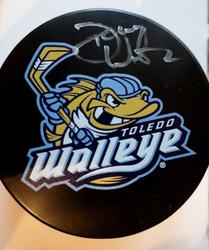 Photo of Toledo Walleye Dan Watson Signed Puck and T-Shirt