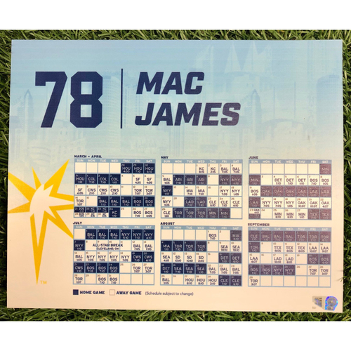 Photo of Rays Baseball Foundation: Team Issued Locker Tag: Mac James - 2019 Season