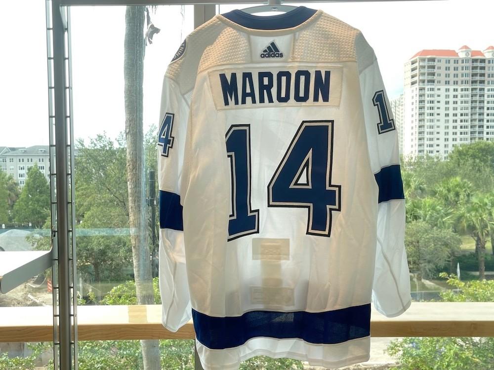 #14 Patrick Maroon Tampa Bay Lightning 2021 Stanley Cup Final Game-Worn Jersey