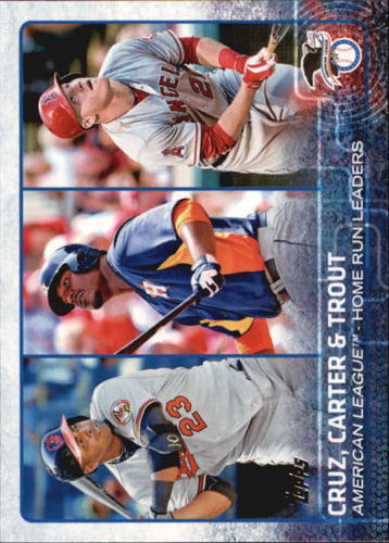 Photo of 2015 Topps #285 Chris Carter/Mike Trout/Nelson Cruz LL