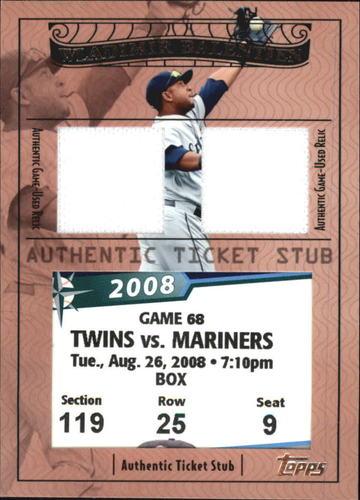 Photo of 2009 Topps Ticket to Stardom Ticket Stubs Plus Memorabilia Dual #TSP60 Wladimir Balentien/228