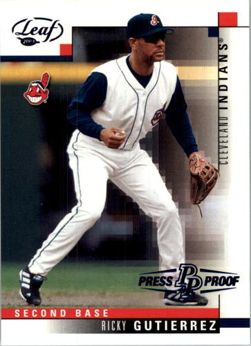 Photo of 2003 Leaf Press Proofs Blue #39 Ricky Gutierrez
