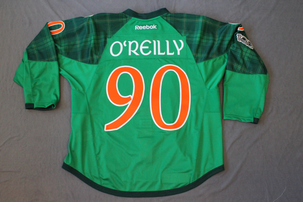 sports shoes 46119 78815 Ryan O'Reilly Pre Game Worn Buffalo Sabres St. Patrick's Day ...