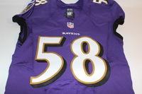 BCA - RAVENS ELVIS DUMERVIL GAME ISSUED RAVENS JERSEY (OCTOBER 9 2016)