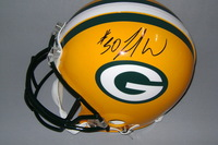 NFL - PACKERS JAMAAL WILLIAMS SIGNED PACKERS PROLINE HELMET