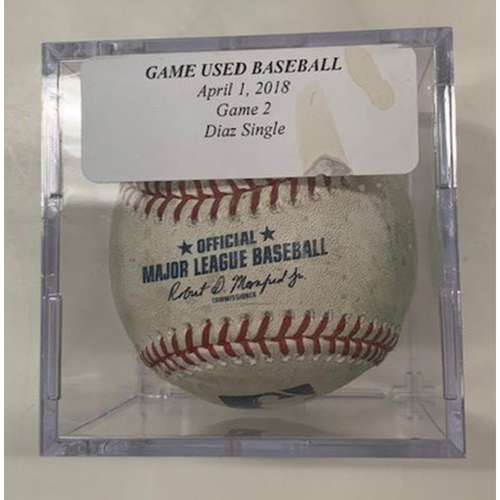 Photo of Game-Used Baseball: Elias Diaz Single