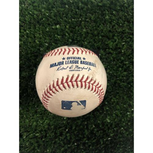 Austin Riley Game Used Hit Single Baseball - June 14, 2019