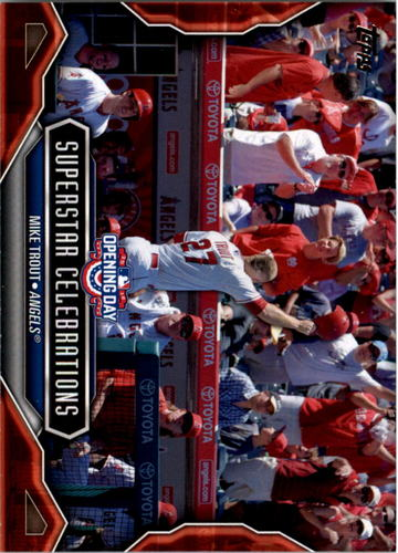 Photo of 2016 Topps Opening Day Superstar Celebrations #SC1 Mike Trout
