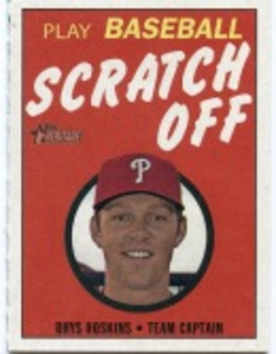 Photo of 2019 Topps Heritage '70 Topps Scratch Offs #19 Rhys Hoskins