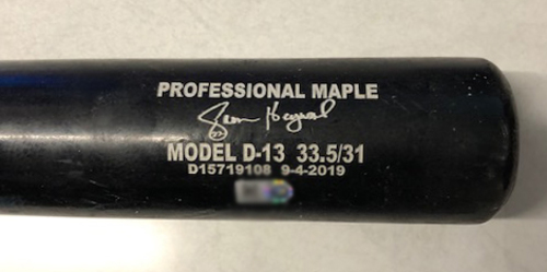 Photo of Jason Heyward Game-Used Cracked Bat -- Tyler Webb to Jason Heyward, Bot 7 -- Cardinals vs. Cubs -- 9/21/19
