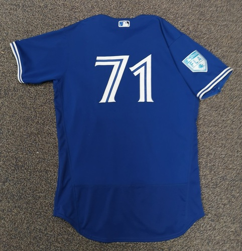 Photo of Authenticated Game Used Spring Training Jersey - #71 Roemon Fields (Mar 26, 19: 1-for-1). Size 46.