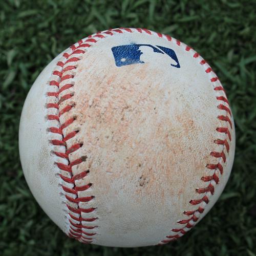 Photo of Game-Used Baseball: Kelvin Gutierrez 6th Career Hit (TB @ KC - 5/1/2019)