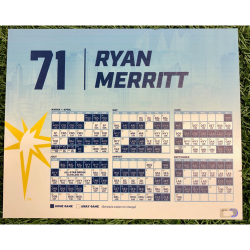 Photo of Rays Baseball Foundation: Team Issued Locker Tag: Ryan Merritt - 2019 Season