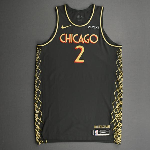 Image of Luke Kornet - Chicago Bulls - City Edition Jersey - Dressed, Did Not Play (DNP) - 2020-21 NBA Season