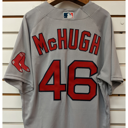 Photo of Collin McHugh #46 Team Issued Nike Road Gray Jersey
