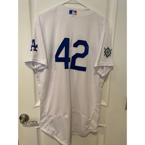 Photo of Gavin Lux Game-Used Jackie Robinson Day Jersey - Size 44