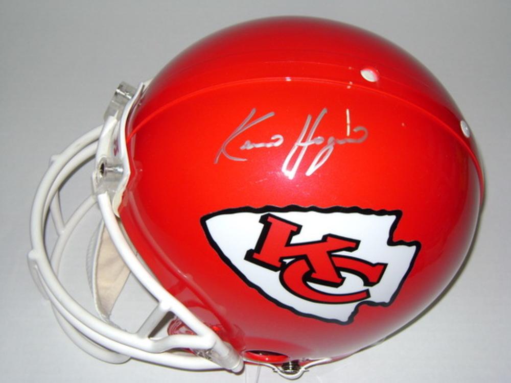 NFL - CHIEFS KEVIN HOGAN SIGNED CHIEFS PROLINE HELMET