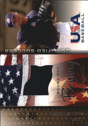 Photo of 2006-07 USA Baseball Bound for Beijing Materials #8 Jeff Farnsworth Jsy