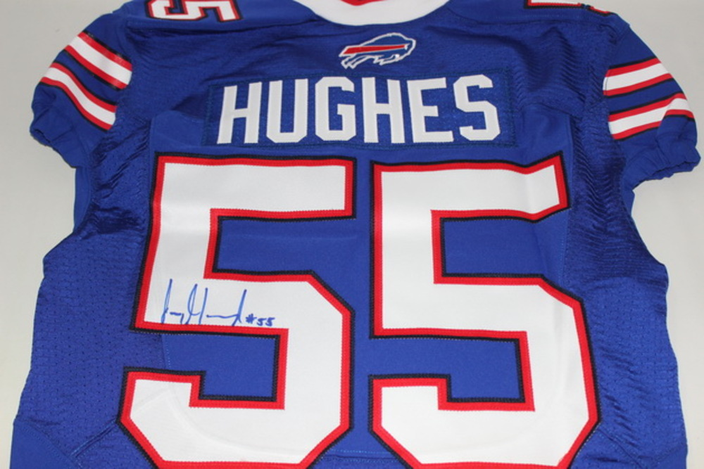 NFL Auction | BILLS - JERRY HUGHES SIGNED AUTHENTIC BILLS JERSEY ...