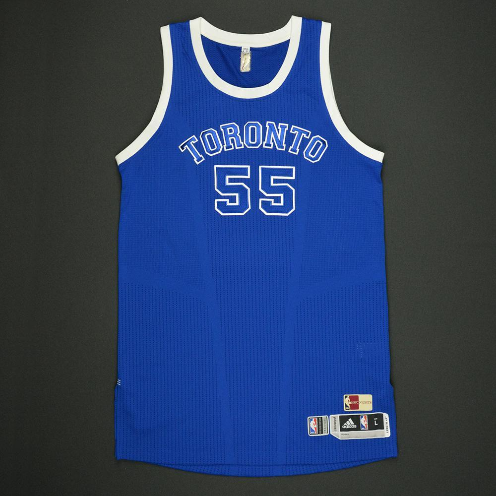 san francisco 3c21d 46a01 Delon Wright - Toronto Raptors - Game-Worn Blue '1946-47 ...