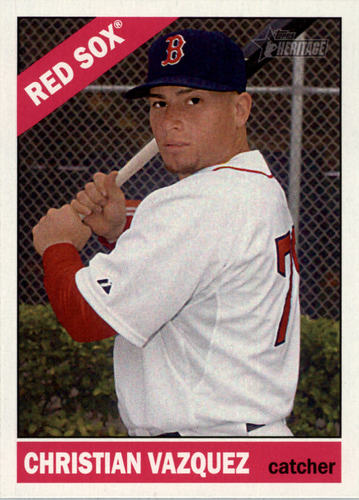 Photo of 2015 Topps Heritage #391 Christian Vazquez -- Red Sox post-season