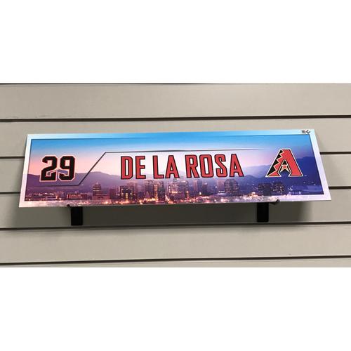 Photo of Jorge De La Rosa Game-Used 2017 Season Nameplate