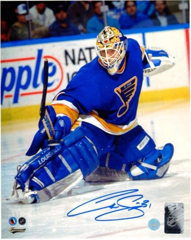 Curtis Joseph - Signed 8x10 Unframed St. Louis Blues-V
