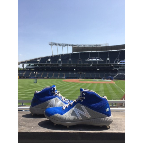 Photo of Game-Used Danny Duffy Cleats - 6/27/18