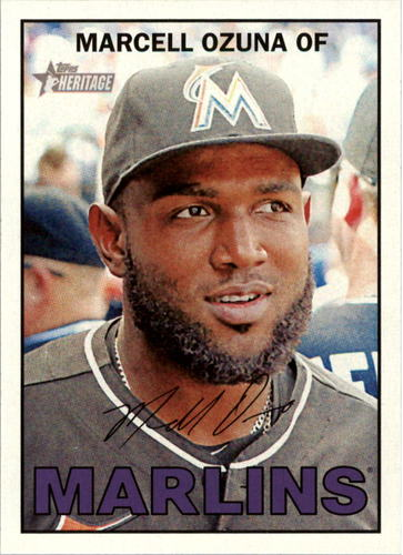 Photo of 2016 Topps Heritage #373 Marcell Ozuna