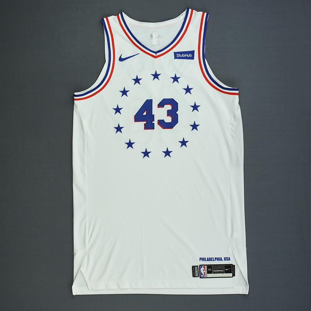 Jonah Bolden - Philadelphia 76ers - Christmas Day' 18 - Game-Worn Earned City Edition Jersey - Dressed, Did Not Play