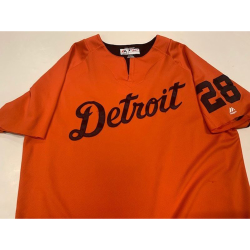 Photo of Team-Issued #28 Road Batting Practice Jersey