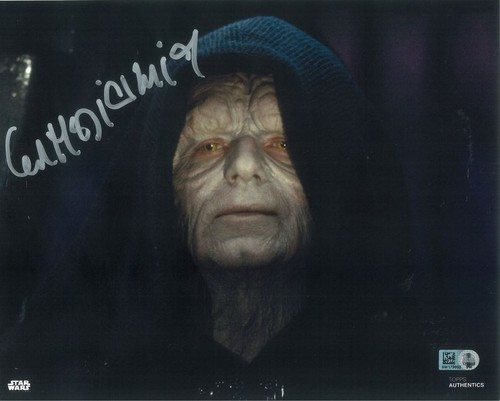 Ian McDiarmid As Emperor Palpatine 8X10 Autographed in Silver Ink Photo