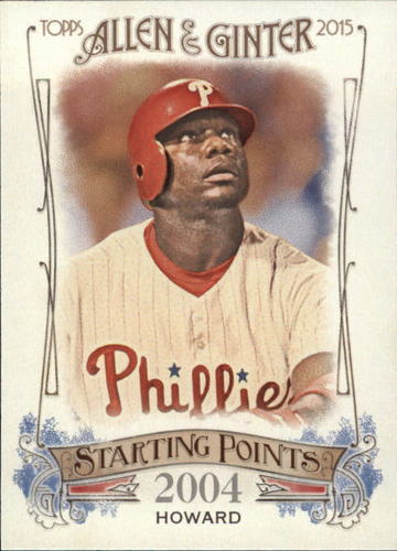 Photo of 2015 Topps Allen and Ginter Starting Points #SP67 Ryan Howard