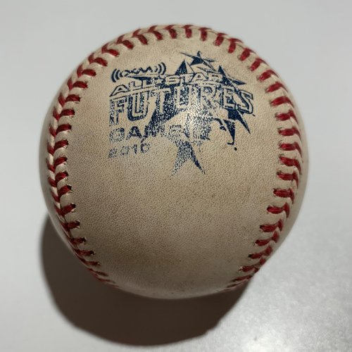 Photo of 2010 Futures Game - Game Used Baseball - Batter: Brett Lawrie Pitcher: Mike Minor - Foul Ball