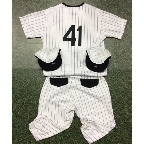 Photo of Junior Guerra 2019 Authenticated Milwaukee Bears Uniform (Game-Used Jersey, Game-Used Cap, Game-Used Cap, Team-Issued Pants)