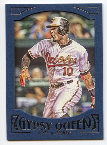 Photo of 2016 Topps Gypsy Queen Framed Blue #4 Adam Jones