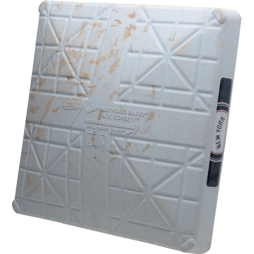 Photo of New York Yankees Game-Used 3rd Base vs. Texas Rangers on September 3, 2019 - Gregorius HR, Sánchez HR, Gardner HR, Encarnación HR