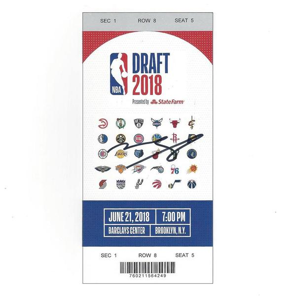 Image of Mohamed Bamba - Orlando Magic - 2018 NBA Draft - Autographed Draft Ticket