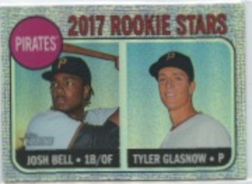 Photo of 2017 Topps Heritage Chrome Purple Refractors #36 Josh Bell/Tyler Glasnow
