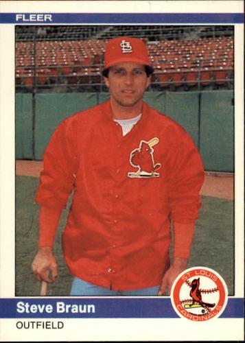 Photo of 1984 Fleer #320 Steve Braun