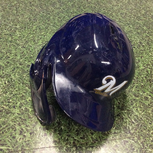 Photo of Christian Yelich 2019 Game-Used Batting Helmet