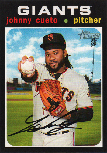 Photo of 2020 Topps Heritage #16 Johnny Cueto